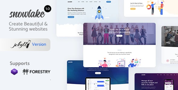 Snowlake - Creative Business & Startup Jekyll Template - Jekyll Static Site Generators