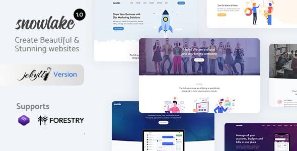 Snowlake - Creative Business & Startup Jekyll Template