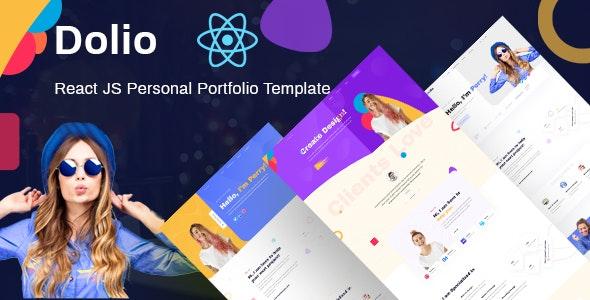 Dolio - React JS Personal Portfolio Template - Portfolio Creative
