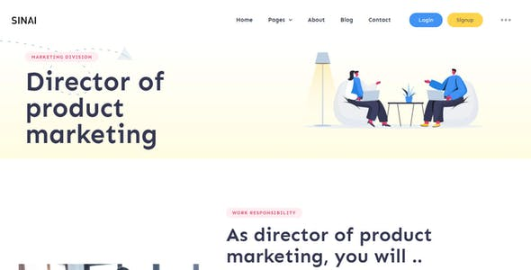 Sinai – SaaS and Web App Template Kit