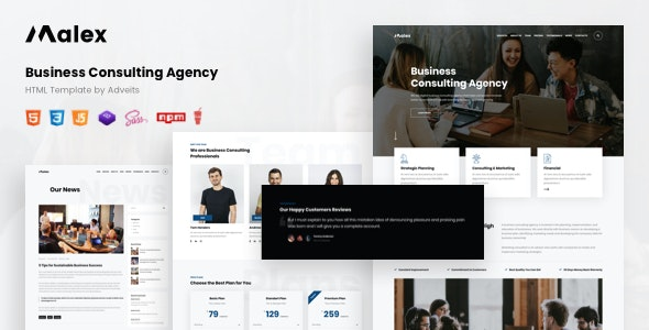 Malex - Business Consulting Agency HTML Template - Business Corporate