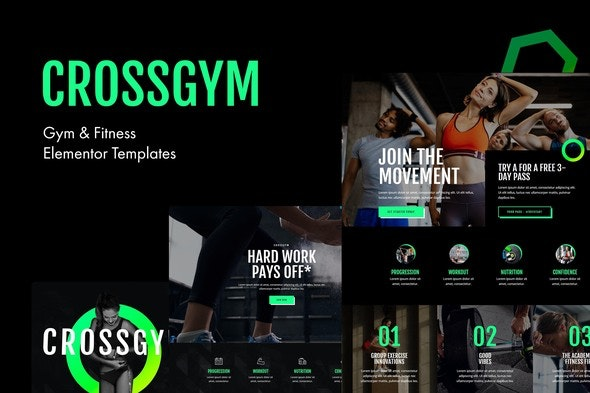 CrossGym - Gym & Fitness Elementor Template Kit - Sport & Fitness Elementor