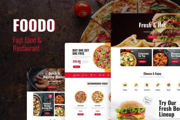Foodo - Fast Food & Pizza Elementor Templates - Food & Drink Elementor