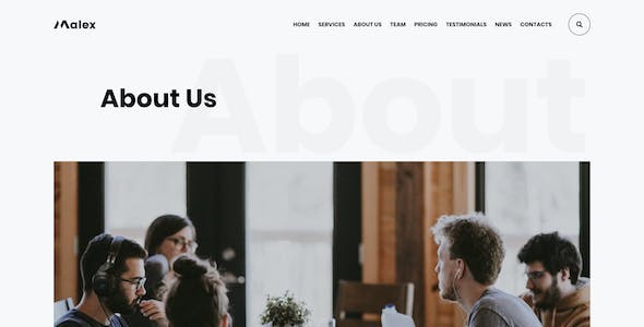 Malex - Business Consulting Agency Adobe XD Template