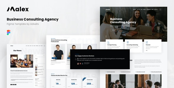 Malex - Business Consulting Agency Figma Template - Business Corporate