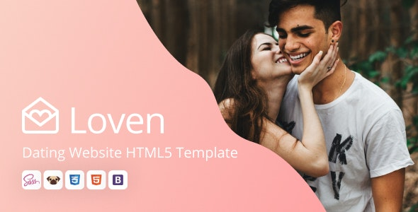 Loven - Dating HTML5 Website Template - Entertainment Site Templates