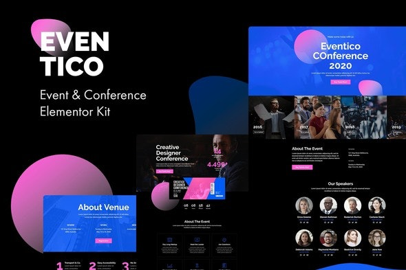 Eventico - Event & Conference Elementor Kit - Events & Entertainment Elementor