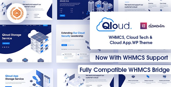 Qloud - WHMCS, Cloud Computing, Apps & Server WordPress Theme - Technology WordPress