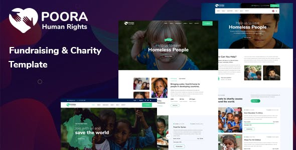 Poora - Fundraising & Charity Template