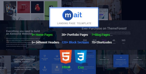 Mait   Responsive Bootstrap Joomla Landing Page Template - Marketing Corporate