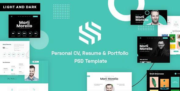 Sonx - Personal CV, Resume & Portfolio PSD Template