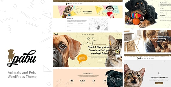 Pabu – Animals and Pets WordPress Theme - Retail WordPress