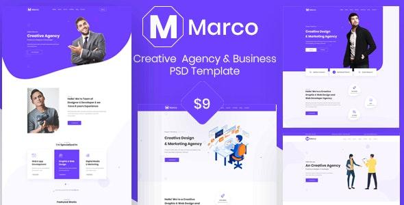 Marco- Creative & Digital Agency PSD template - Creative Photoshop