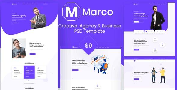 Marco- Creative & Digital Agency PSD template