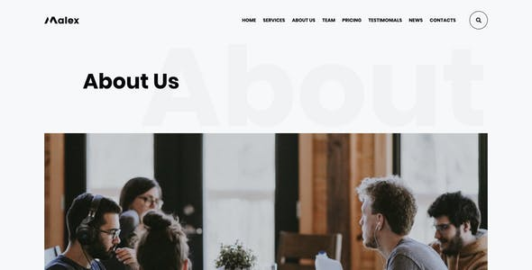 Malex - Business Consulting Agency PSD Template