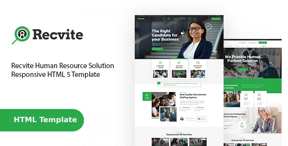 Recvite - Staffing Agency HTML Template - Business Corporate