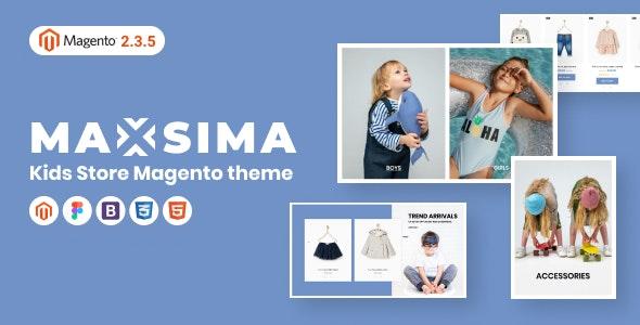 Maxsima Kids Store Magento 2 Theme - Fashion Magento