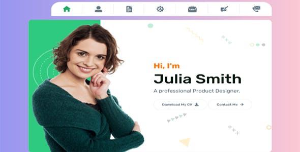 Julia - Personal Portfolio Template