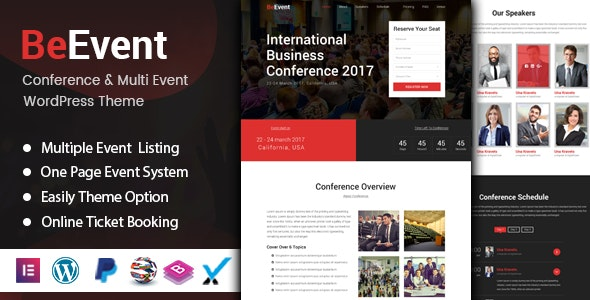 BeEvent - Conference & Multi Event WordPress Theme - Events Entertainment