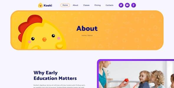 Kooki – Kindergarten Sketch Template