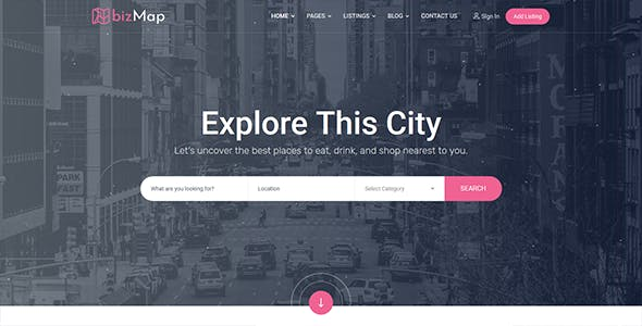 BizMap - Business Directory Listing React & Bootstrap Template