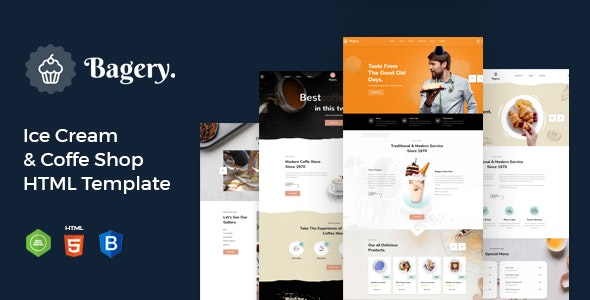 Bagery - Ice Cream Shop HTML5 Template - Food Retail
