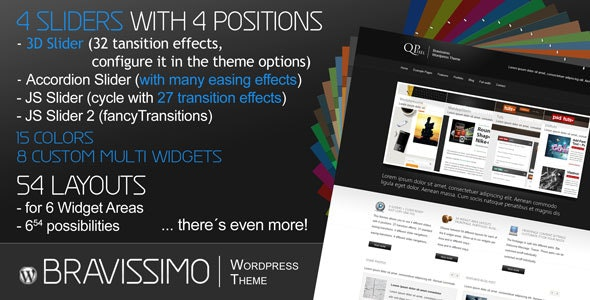 Bravissimo - Porfolio Blog Business CMS WP 15in1 - Corporate WordPress