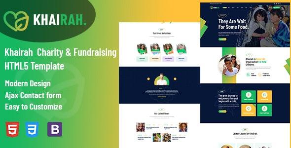 Khairah - Charity Nonprofit HTML5 Template - Charity Nonprofit