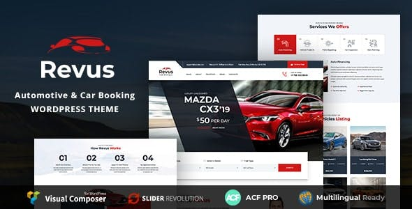 Revus - Automotive & Car Rental WordPress Theme