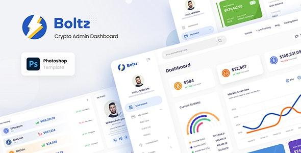 Boltz - Crypto Admin Panel Dashboard UI Template PSD - Miscellaneous Photoshop