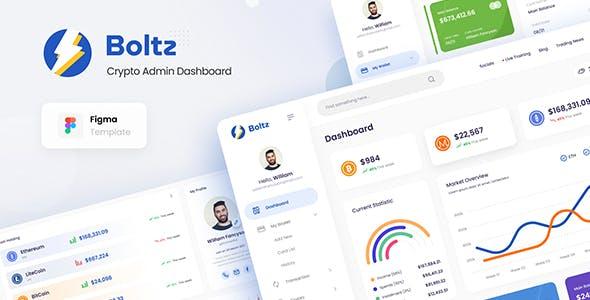 Boltz - Crypto Admin Panel Dashboard UI Template Figma