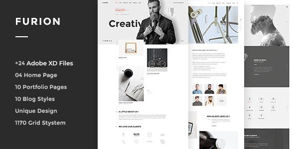 Furion - Creative Adobe XD Template