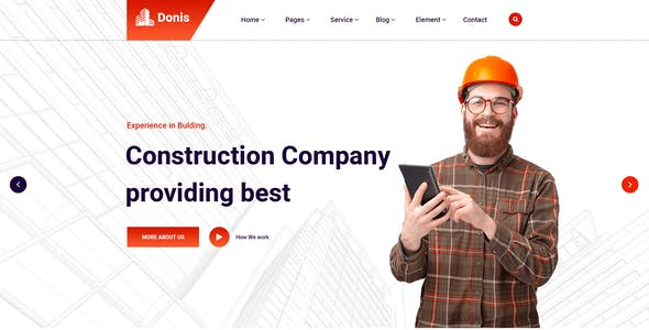 Donis-Construction PSD Template