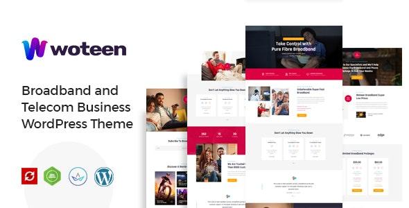 Woteen - Broadband and Telecom Business WordPress Theme - Technology WordPress