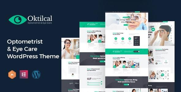 Oktilcal -  Eye Care WordPress Theme - Health & Beauty Retail