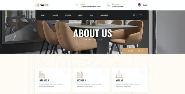 EnvArch - Architecture and Single Property PSD Template