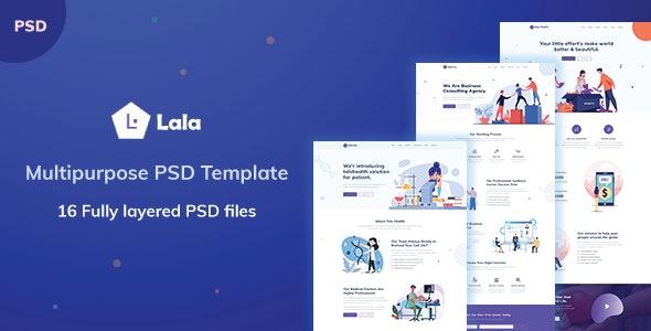 LALA - Multipurpose PSD Template - Photoshop UI Templates
