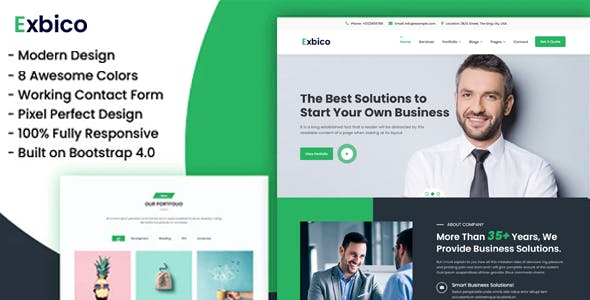 Exbico Bonik - Multipurpose Business & Digital Agency HTML Template