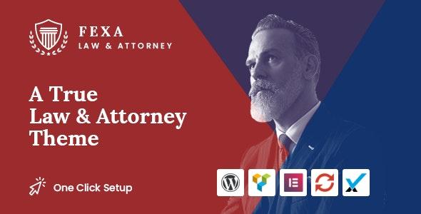 Fexa- Lawyer & Attorney WordPress Theme - Business Corporate