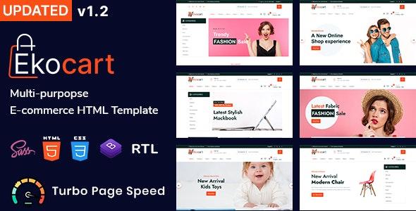 Ekocart - Multipurpose eCommerce HTML5 Template - Retail Site Templates
