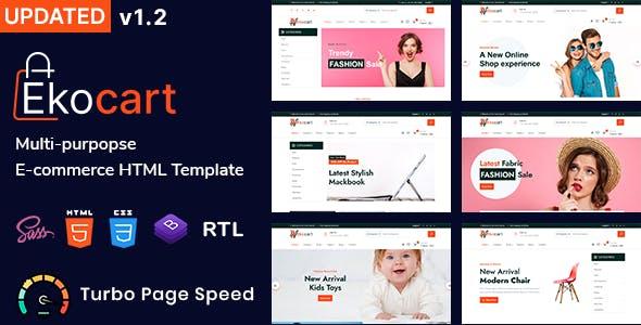 Ekocart - Multipurpose eCommerce HTML5 Template