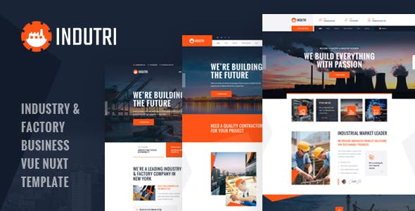 Indutri - Vue Nuxt Industry & Factory Business Template