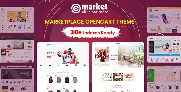 eMarket - Multi-purpose MarketPlace OpenCart 3 Theme (30+ Homepages & Mobile Layouts Included) - OpenCart eCommerce