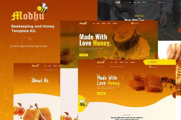 Modhu - Beekeeping & Honey Elementor Template Kit - Food & Drink Elementor