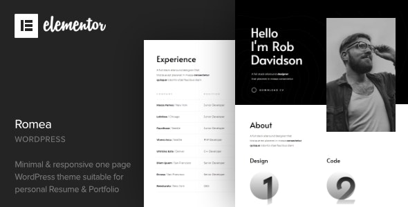 Romea - Personal Portfolio WordPress Theme - Portfolio Creative