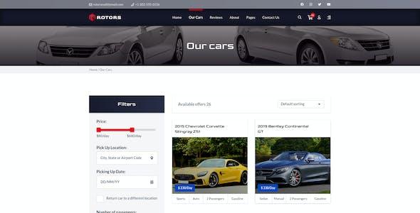 Rotors – Car Rental Template for Sketch