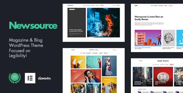 Newsource - Multi-Concept Blog Magazine - Personal Blog / Magazine