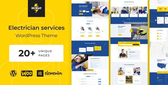 MrWatt - Electrician Services WordPress Theme