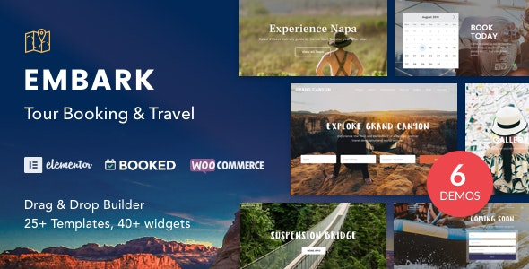 Tour Booking & Travel WordPress Theme - Embark - Travel Retail