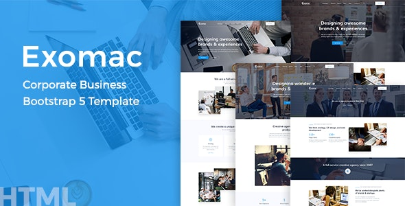 Exomac Corporate Business Bootstrap 5 Template